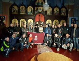 Байкеры передадут Патриарху Кириллу стяг князя Лазаря Косовского