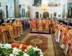 Во вторник Светлой седмицы митрополит Павел возглавил Литургию в Успенском Жировичском ставропигиальном мужском монастыре