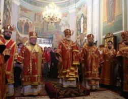 Во вторник Светлой седмицы Патриарший Экзарх возглавил Пасхальную вечерню в Гродненском Рождество-Богородичном женском монастыре