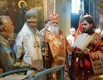 Блаженнейший митрополит Киевский и всея Украины Онуфрий совершил Литургию в Почаевской лавре