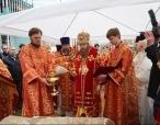 Состоялось освящение закладного камня в основание первого в Москве каменного храма святых Жен-мироносиц