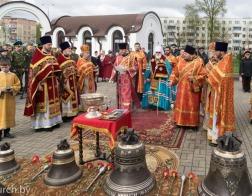 В день 32-й годовщины аварии на ЧАЭС Патриарший Экзарх совершил Литургию в храме иконы Божией Матери «Взыскание погибших» города Минска