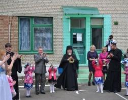 Епископ Туровский Леонид посетил пасхальный утренник в мозырском детском саду