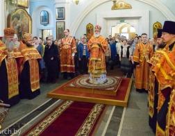 В канун Недели о расслабленном Патриарший Экзарх совершил всенощное бдение в Свято-Духовом кафедральном соборе города Минска