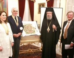 Мозаика VI века с изображением св. апостола Андрея Первозванного, возвращена на Кипр