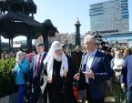 Святейший Патриарх Кирилл и мэр Москвы С.С. Собянин посетили фестиваль «Пасхальный дар» в столице
