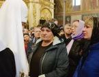 На 40-й день после трагедии в Кемерове Святейший Патриарх Кирилл совершил панихиду в Знаменском кафедральном соборе города