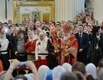 Предстоятель Русской Церкви совершил великое освящение Свято-Троицкого Измайловского собора Санкт-Петербурга