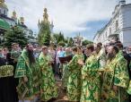 Праздничное богослужение в день памяти преподобного Феодосия Печерского состоялось в Киево-Печерской лавре