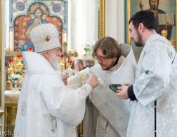 В праздник Вознесения Господня Патриарший Экзарх совершил Литургию в Свято-Духовом кафедральном соборе города Минска