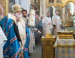 В канун Недели 7-й по Пасхе митрополит Павел совершил всенощное бдение в Свято-Духовом кафедральном соборе города Минска