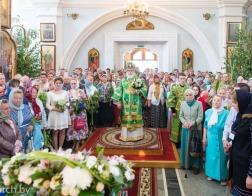 В праздник Святой Троицы митрополит Павел совершил Литургию в Свято-Духовом кафедральном соборе города Минска