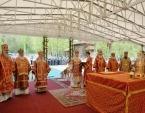 В праздник Собора новомучеников, в Бутове пострадавших, Святейший Патриарх Кирилл совершил Литургию на Бутовском полигоне
