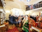Святейший Патриарх Кирилл совершил освящение храма Всех святых, в земле Санкт-Петербургской просиявших, на Левашовском мемориальном кладбище Санкт-Петербурга