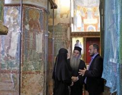 Полоцкий Спасо-Евфросиниевский монастырь посетил иконописец с Афона