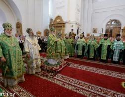 В канун праздника преподобной Евфросинии Полоцкой митрополит Павел совершил всенощное бдение в Спасо-Евфросиниевском монастыре города Полоцка