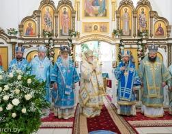 Патриарший Экзарх возглавил торжества в честь Марьиногорской иконы Божией Матери