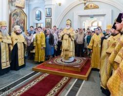 В канун праздника Собора Белорусских святых Патриарший Экзарх совершил всенощное бдение в Свято-Духовом кафедральном соборе города Минска