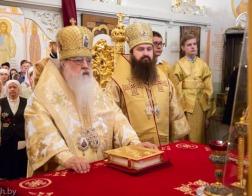 Митрополит Филарет возглавил престольное торжество домового храма Минского епархиального управления