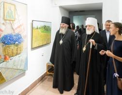 Митрополит Павел возглавил церемонию открытия выставки «Блаженная Валентина, духовная заступница земли Минской»