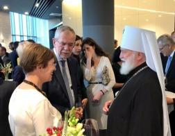 Митрополит Павел принял участие в приеме по случаю визита в Беларусь Федерального президента Австрии