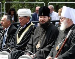 Патриарший Экзарх всея Беларуси посетил митинг-реквием в Тростенце