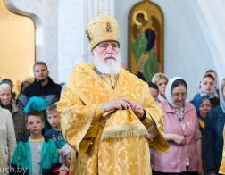 В канун Недели 5-й по Пятидесятнице Патриарший Экзарх совершил всенощное бдение в Свято-Духовом кафедральном соборе города Минска