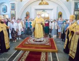 В канун Недели 6-й по Пятидесятнице Патриарший Экзарх совершил всенощное бдение в Свято-Духовом кафедральном соборе города Минска