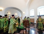 Святейший Патриарх Кирилл освятил надвратный храм святых апостолов Петра и Павла в Валаамском монастыре
