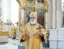 В Неделю 6-ю по Пятидесятнице митрополит Павел совершил Литургию в Свято-Духовом кафедральном соборе города Минска