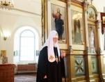 Святейший Патриарх Кирилл посетил Свято-Троицкий собор в Алапаевске
