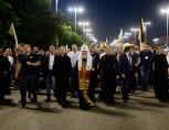 Святейший Патриарх Кирилл возглавил стотысячный крестный ход от Храма на Крови в Екатеринбурге до монастыря на Ганиной Яме