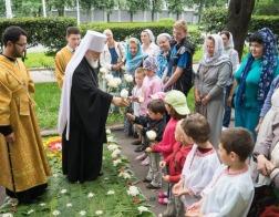 В день памяти равноапостольной великой княгини Ольги митрополит Павел совершил Литургию в Ольгинском храме города Минска