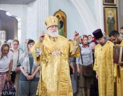 В день памяти святых отцев шести Вселенских Соборов Патриарший Экзарх совершил Божественную литургию в Свято-Духовом кафедральном соборе города Минска