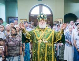 В день памяти преподобномученика Афанасия Брестского Патриарший Экзарх совершил Литургию в Афанасиевском храме города Минска
