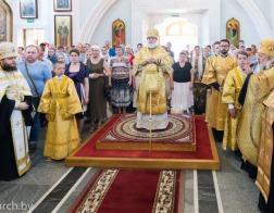 В канун Недели 10-й по Пятидесятнице Патриарший Экзарх совершил всенощное бдение в Свято-Духовом кафедральном соборе города Минска