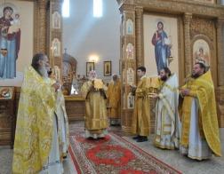 В день памяти святителя Георгия Могилевского Патриарший Экзарх возглавил Литургию в Спасо-Преображенском соборе города Могилева