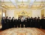 Святейший Патриарх Кирилл встретился с делегациями Поместных Православных Церквей, прибывшими на празднование 1030-летия Крещения Руси