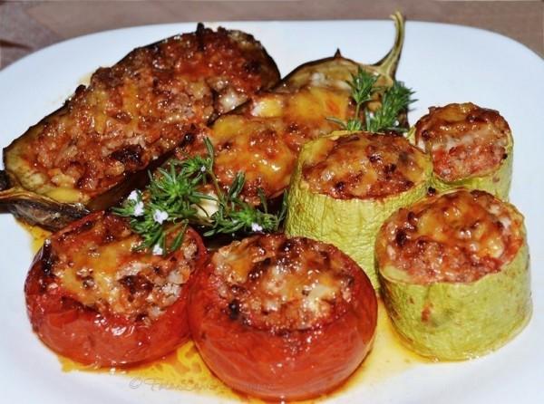 Фаршированный перец овощами и сыром в духовке рецепты
